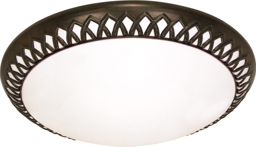 "NUVO Lighting 60/925 Rustica 3 Light CFL 17"" Flushmount (3) 18W GU24 (Bulbs Included)"