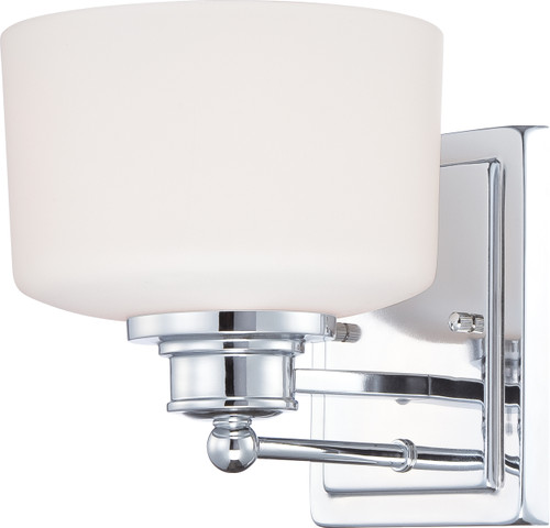 NUVO Lighting 60/4581 Soho 1 Light Vanity Fixture with Satin White Glass
