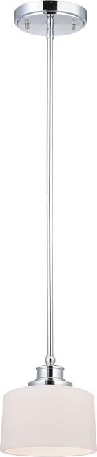 NUVO Lighting 60/4588 Soho 1 Light Mini Pendant with Satin White Glass