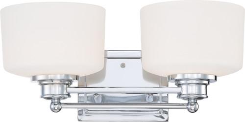 NUVO Lighting 60/4582 Soho 2 Light Vanity Fixture with Satin White Glass