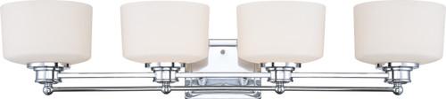 NUVO Lighting 60/4584 Soho 4 Light Vanity Fixture with Satin White Glass