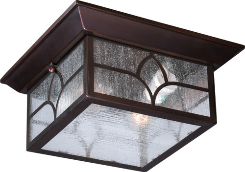 NUVO Lighting 60/5646 Stanton 2 Light Outdoor Flushmount Fixture with Clear Seeded Glass