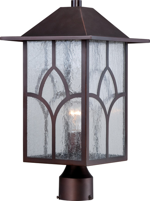NUVO Lighting 60/5645 Stanton 1 Light Outdoor Post Fixture with Clear Seeded Glass