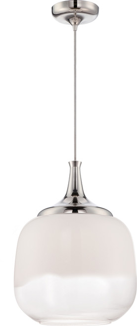NUVO Lighting 62/342 Stellar LED Glass Pendant with White To Clear Glass