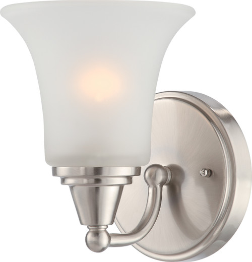 NUVO Lighting 60/4141 Surrey 1 Light Vanity Fixture with Frosted Glass