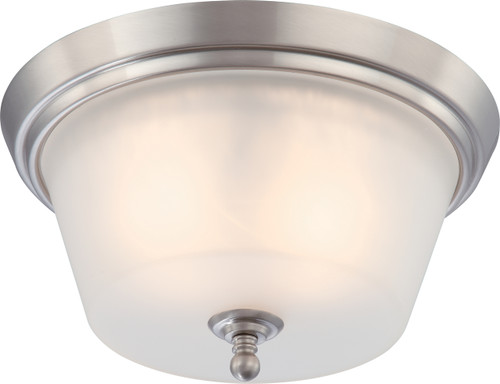 NUVO Lighting 60/4152 Surrey 2 Light Flushmount Dome Fixture with Frosted Glass