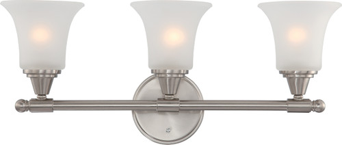 NUVO Lighting 60/4143 Surrey 3 Light Vanity Fixture with Frosted Glass