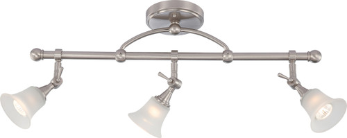NUVO Lighting 60/4154 Surrey 3 Light Fixed Track Bar with Frosted Glass (3) 50W Halogen (Bulbs Included)