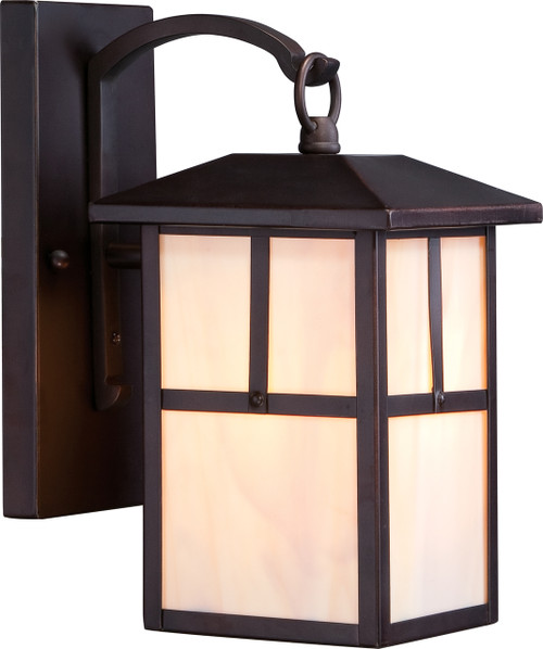 """NUVO Lighting 60/5671 Tanner 1 Light 6"""" Outdoor Wall Fixture with Honey Stained Glass"""