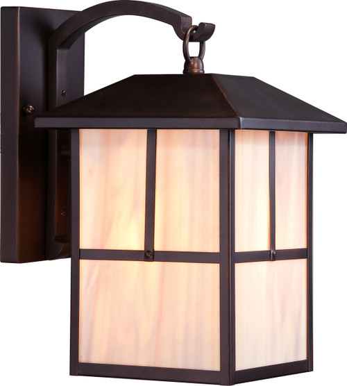 """NUVO Lighting 60/5672 Tanner 1 Light 8"""" Outdoor Wall Fixture with Honey Stained Glass"""