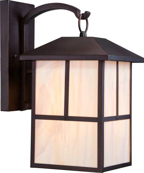 """NUVO Lighting 60/5673 Tanner 1 Light 10"""" Outdoor Wall Fixture with Honey Stained Glass"""