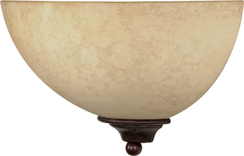 """NUVO Lighting 60/044 Tapas 1 Light 12"""" Sconce with Tuscan Suede Glass"""