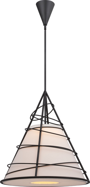 NUVO Lighting 62/453 Toro LED Cone Pendant with Jute Fabric Shade