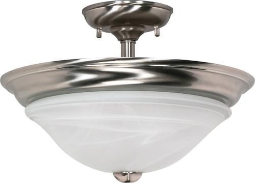 "NUVO Lighting 60/589 Triumph 2 Light 16"" Semi Flushmount with Sculptured Glass Shades"