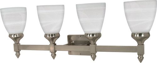 """NUVO Lighting 60/594 Triumph 4 Light 29"""" Vanity with Sculptured Glass Shades"""