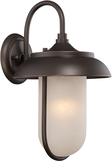 NUVO Lighting 62/672 Tulsa LED Outdoor Large Wall with Satin Amber Glass