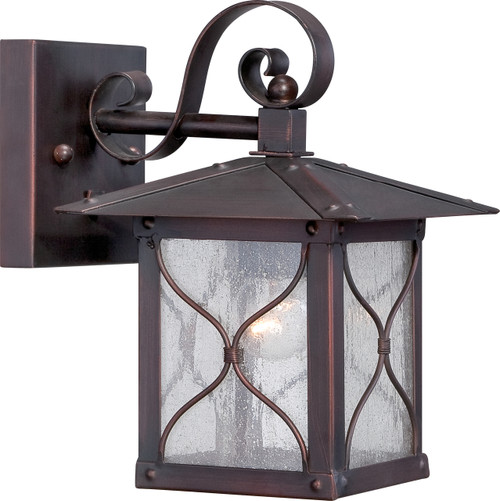 """NUVO Lighting 60/5611 Vega 1 Light 6.5"""" Outdoor Wall Fixture with Clear Seeded Glass"""