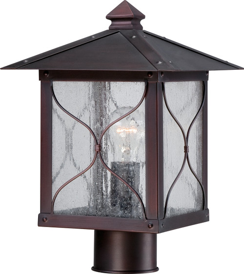 NUVO Lighting 60/5615 Vega 1 Light Outdoor Post Fixture with Clear Seeded Glass