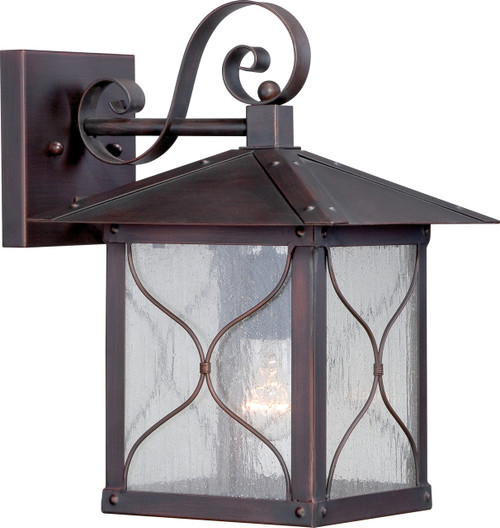 """NUVO Lighting 60/5612 Vega 1 Light 9"""" Outdoor Wall Fixture with Clear Seeded Glass"""