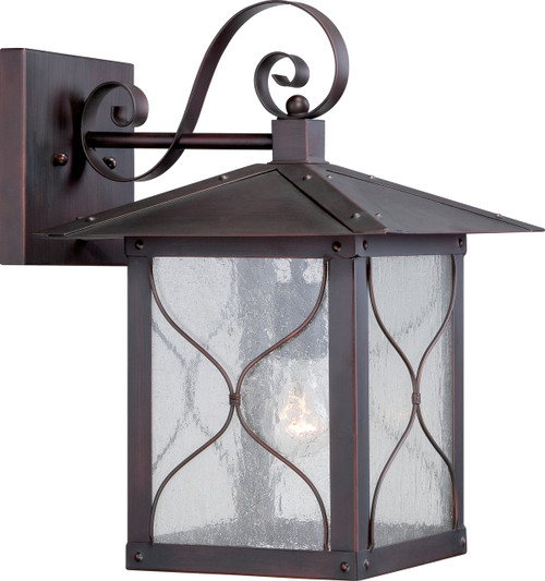"""NUVO Lighting 60/5613 Vega 1 Light 11"""" Outdoor Wall Fixture with Clear Seeded Glass"""