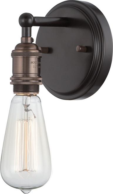 NUVO Lighting 60/5515 Vintage 1 Light Sconce (Vintage Bulb Included)
