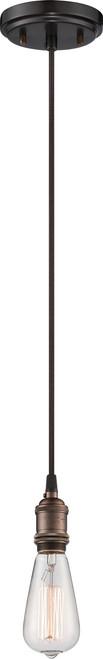 NUVO Lighting 60/5505 Vintage 1 Light Pendant (Vintage Bulb Included)