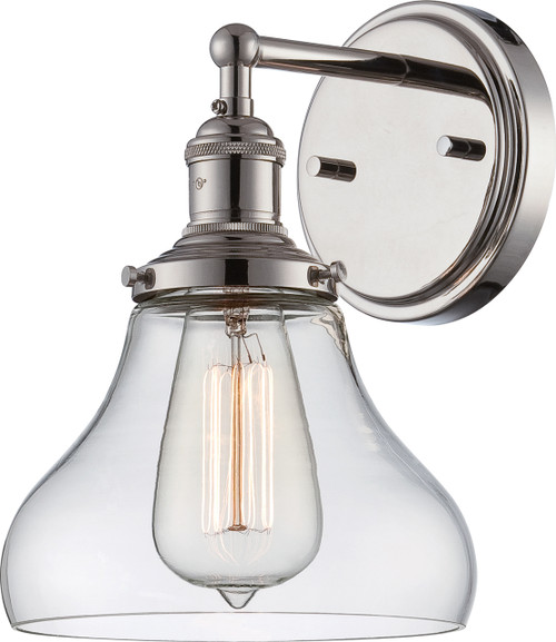 NUVO Lighting 60/5413 Vintage 1 Light Sconce with Clear Glass (Vintage Bulb Included)