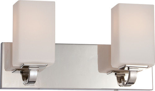 NUVO Lighting 60/5182 Vista 2 Light Vanity Fixture with Etched Opal Glass