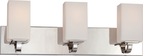 NUVO Lighting 60/5183 Vista 3 Light Vanity Fixture with Etched Opal Glass