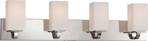 NUVO Lighting 60/5184 Vista 4 Light Vanity Fixture with Etched Opal Glass