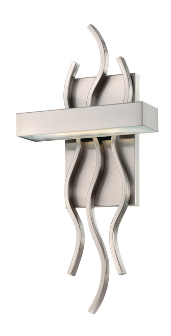 NUVO Lighting 62/104 Wave 1 Module Wall Sconce with Frosted Glass