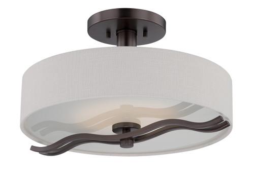 NUVO Lighting 62/138 Wave LED Semi Flushmount