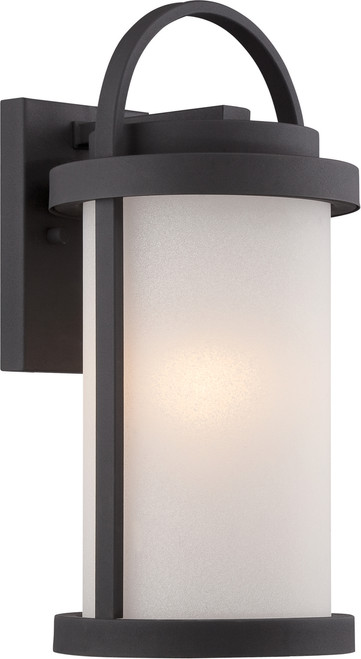NUVO Lighting 62/651 Willis LED Outdoor Small Wall with Antique White Glass