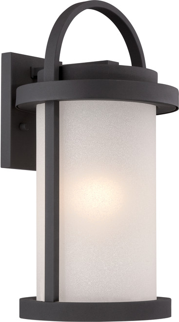NUVO Lighting 62/652 Willis LED Outdoor Large Wall with Antique White Glass