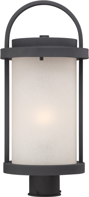 NUVO Lighting 62/654 Willis LED Outdoor Post with Antique White Glass