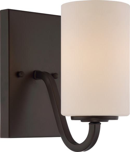 NUVO Lighting 60/5901 Willow 1 Light Vanity Fixture with White Glass