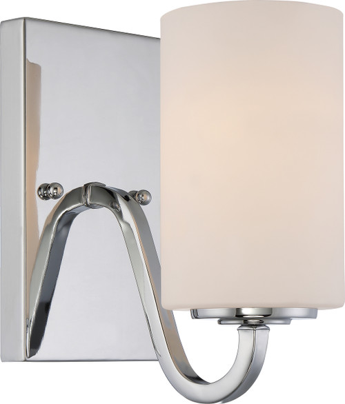 NUVO Lighting 60/5801 Willow 1 Light Vanity Fixture with White Glass