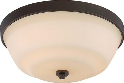 NUVO Lighting 60/5904 Willow 2 Light Flushmount Fixture with White Glass