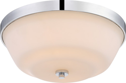 NUVO Lighting 60/5804 Willow 2 Light Flushmount Fixture with White Glass