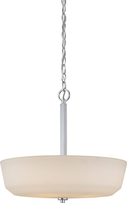 NUVO Lighting 60/5807 Willow 4 Light Pendant with White Glass