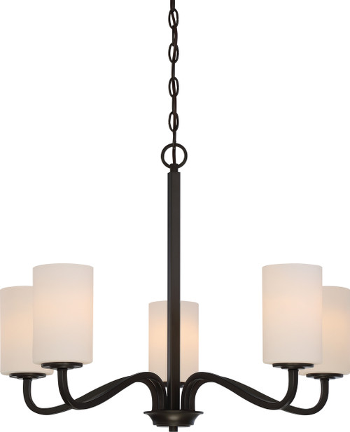 NUVO Lighting 60/5905 Willow 5 Light Hanging Fixture with White Glass
