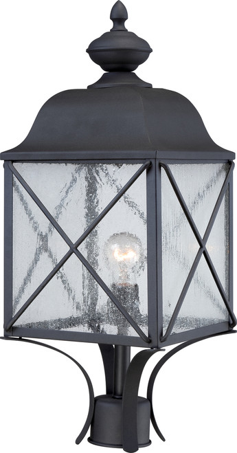 NUVO Lighting 60/5625 Wingate 1 Light Outdoor Post Fixture with Clear Seeded Glass