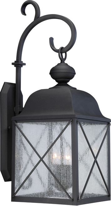 """NUVO Lighting 60/5623 Wingate 1 Light 10"""" Outdoor Wall Fixture with Clear Seeded Glass"""