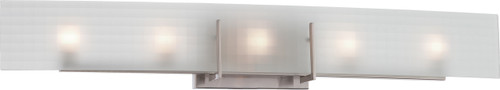 NUVO Lighting 60/5188 Yogi 5 Light Halogen Vanity Fixture with Frosted Glass (Bulbs Included)