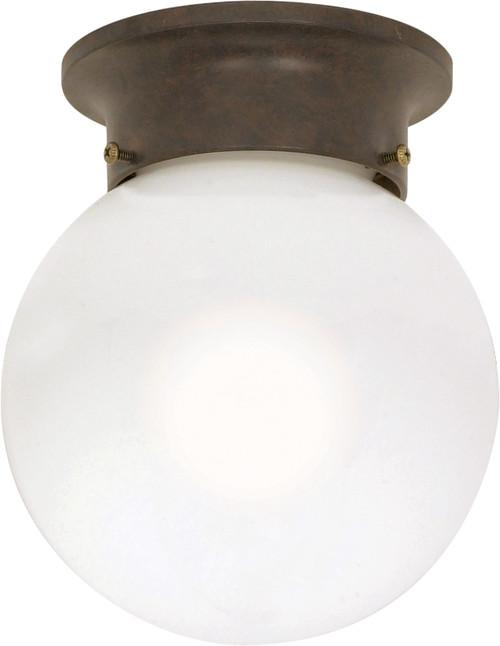 "NUVO Lighting 60/247 1 Light 6"" Ceiling Mount White Ball"