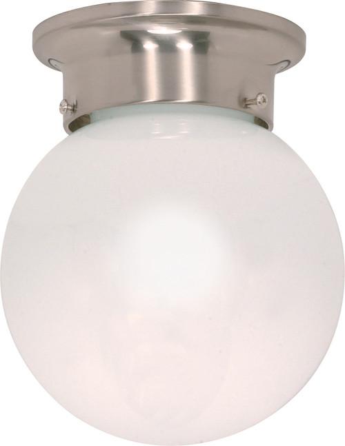 "NUVO Lighting 60/245 1 Light 6"" Ceiling Mount White Ball"