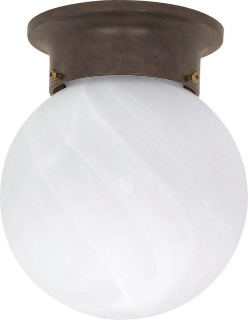 "NUVO Lighting 60/259 1 Light 6"" Ceiling Mount Alabaster Ball"