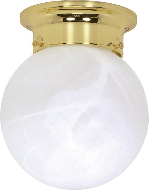 "NUVO Lighting 60/255 1 Light 6"" Ceiling Mount Alabaster Ball"