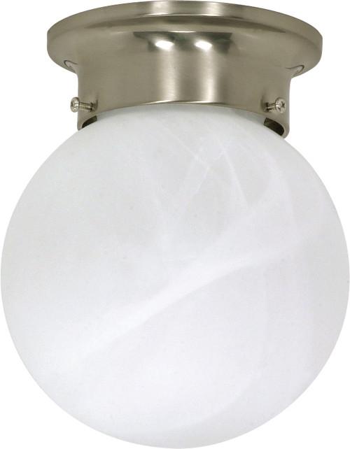 "NUVO Lighting 60/257 1 Light 6"" Ceiling Mount Alabaster Ball"