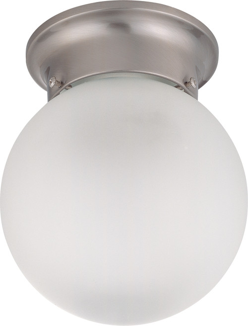 """NUVO Lighting 60/3249 1 Light 6"""" Ceiling Mount with Frosted White Glass"""